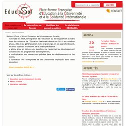 Bulletin Officiel n°41 sur l'Education au Développement Durable