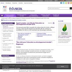 EDD en action - Appel à projets - Les Clés de l'éducation au développement durable 2016