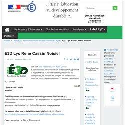 EDD Éducation au développement durable