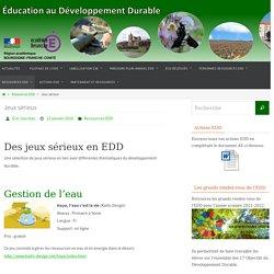 Jeux sérieux – Education au Développement Durable