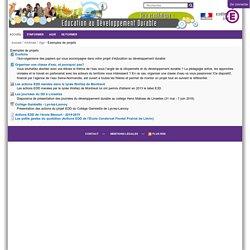 Exemples de projets — Education au Développement Durable
