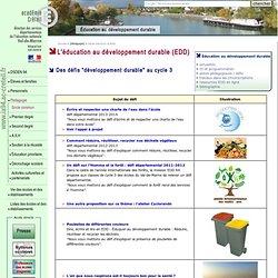 Marne - Éducation au développement durable