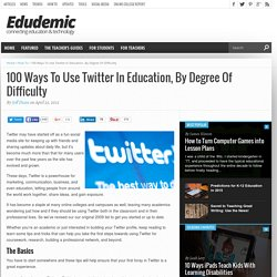100 Ways To Use Twitter In Education, By Degree Of Difficulty