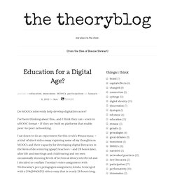 Education for a Digital Age?