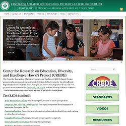 Center for Research on Education, Diversity & Excellence (CREDE)