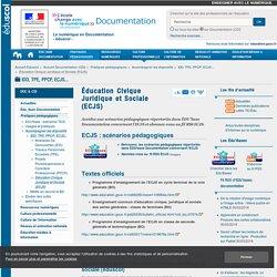 Éducation Civique Juridique et Sociale (ECJS) — Documentation (CDI)