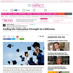 Ending the Education Drought in California