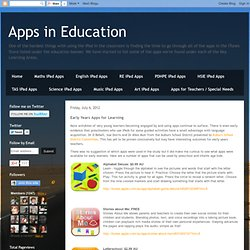 Early Years Apps for Learning