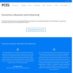 Education, Economics and Unlearning - The Report