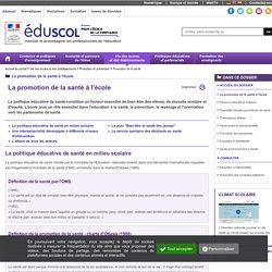 Éducation à la santé - La santé, un enjeu éducatif, de santé publique et de société