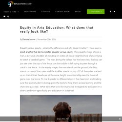 Equity in Arts Education: What does that really look like?