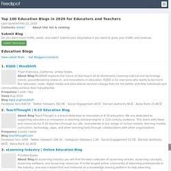 Top 100 Education Blogs for Educators and Teachers - Education Blog