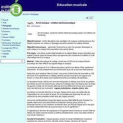 Education musicale - Art et musique : création electroacoustique