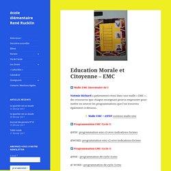 Education Morale et Citoyenne – EMC – école élémentaire René Rucklin