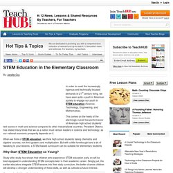 STEM Education in the Elementary Classroom