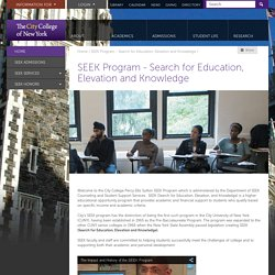 SEEK Program - Search for Education, Elevation and Knowledge