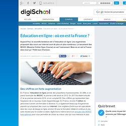 Education en ligne : où en est la France ?