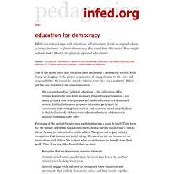 democracy without education is meaningless No democracy without cultural gratitude  theater and journals — can only be denied by someone who is without any education or fanatically ideological .