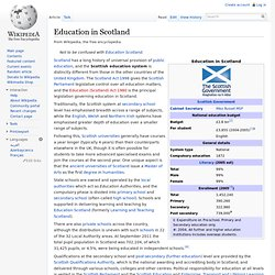 Education in Scotland