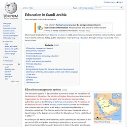 Education in Saudi Arabia