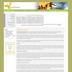 Education populaire - Encyclopédie de l'éducation - E-tud.com