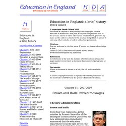 Education in England - Chapter 11