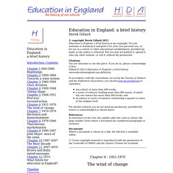 Education in England - Chapter 6