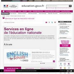 Services en ligne de l'éducation nationale - Ministère de l'Éducation nationale, de l'Enseignement supérieur et de la Recherche