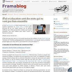 iPad et éducation sont des mots qui ne vont pas bien ensemble -