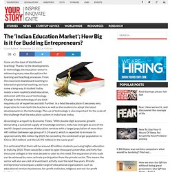 The 'Indian Education Market'; How Big is it for Budding Entrepreneurs?