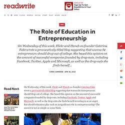 The Role of Education in Entrepreneurship - ReadWriteStart