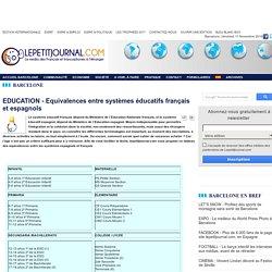 Equivalences entre systèmes éducatifs français et espagnols