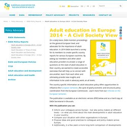 Adult education in Europe 2014 - A Civil Society View - European Association for the Education of Adults