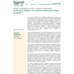 La Santé de l'homme n° 390 - Education pour la santé : les défis de l'évaluation - Enjeux et pratiques de l'évaluation