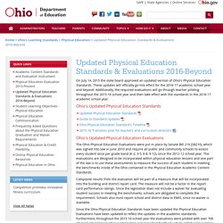 Updated Physical Education Standards & Evaluations 2016-Beyond
