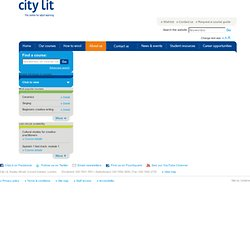 Part-time adult education, evening classes: London: City Lit