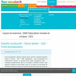 EMC Education morale et civique : CE2 - Cycle2