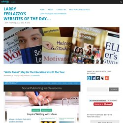 """Write About"" May Be The Education Site Of The Year"