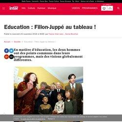 Education : Fillon-Juppé au tableau !