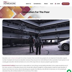 Education For The Poor