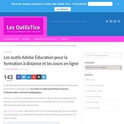 Les outils Adobe Éducation pour la formation à distance et les cours en ligne