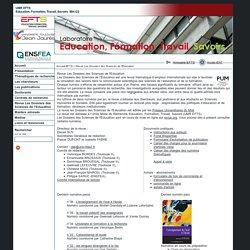 UMR - Education, Formation, Travail, Savoirs - Revue Les Dossiers des Sciences de l'Education