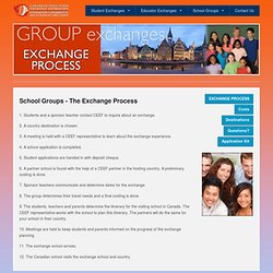 Canadian Education Exchange Foundation - Group Exchanges - The Exchange Process