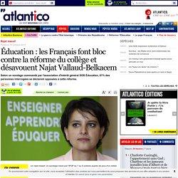 Éducation : les Français font bloc contre la réforme du collège et désavouent Najat Vallaud-Belkacem