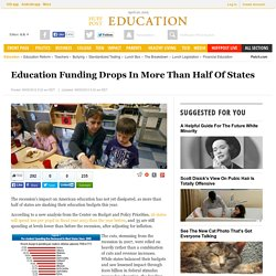 Education Funding Drops In More Than Half Of States