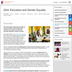 Girls' Education and Gender Equality