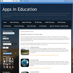 Geography and Science - Cross over apps