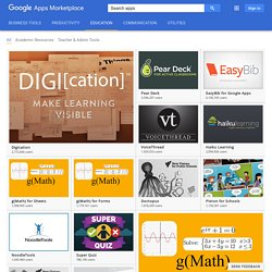 Education - Google Apps Marketplace