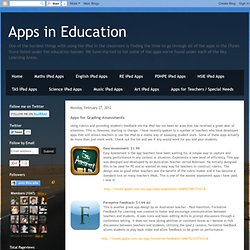 Apps for Grading Assessments