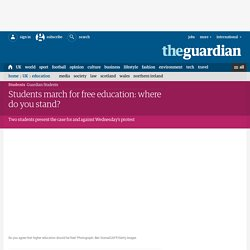 Students march for free education: where do you stand? #GrantsNotDebt